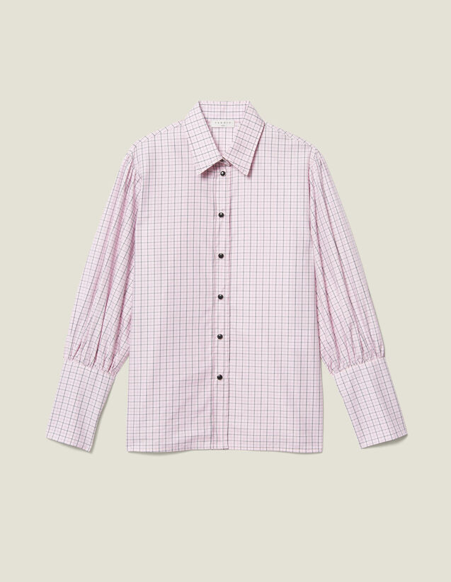 Mini Check Poplin Shirt : Shirts color Pink