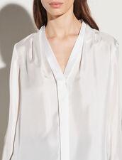 Silk Shirt With V-Neck : Shirts color Ecru