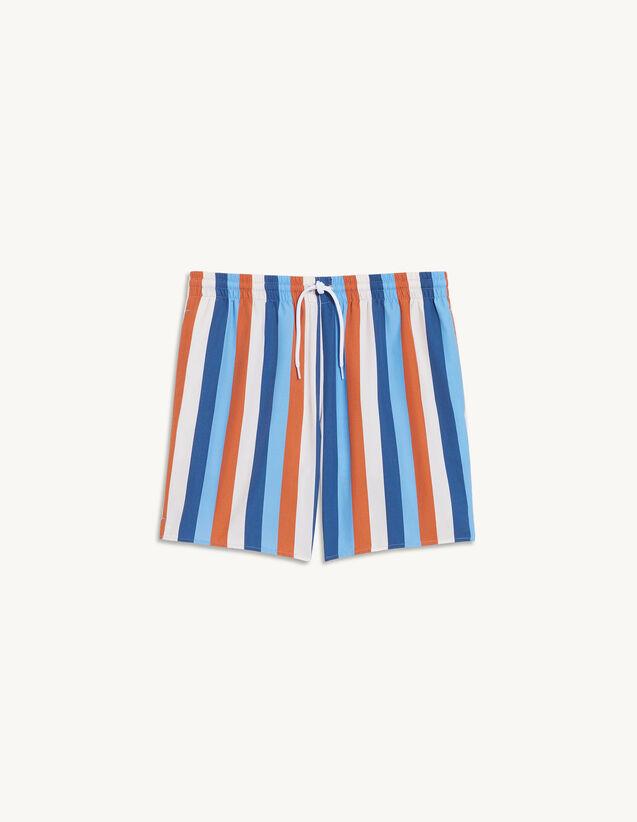 Printed Swim Shorts : Pants & Shorts color Stripe Navy-blue-orange-white