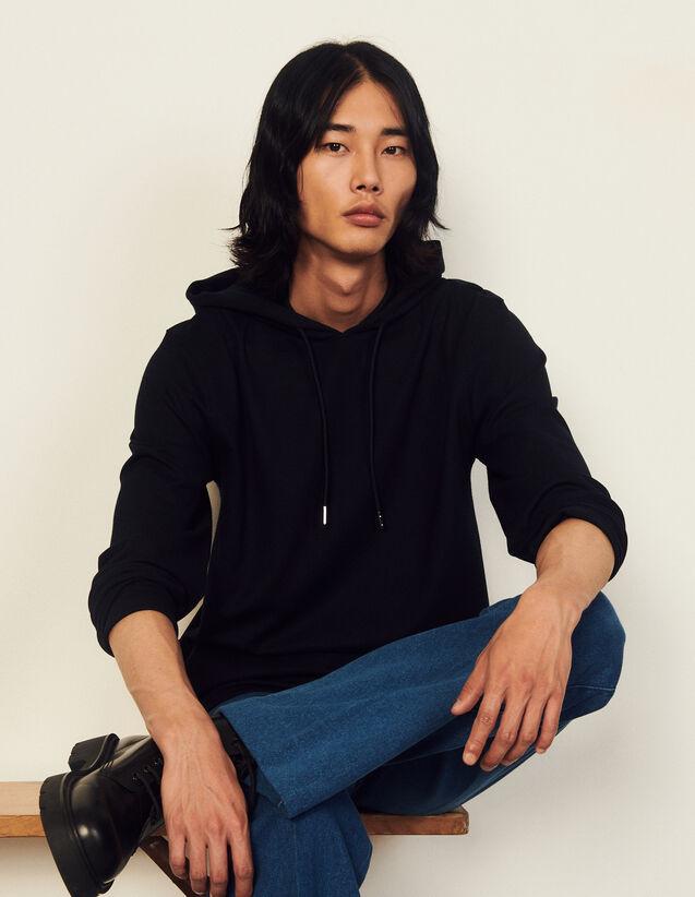 Hoodie Sweatshirt : Sweatshirts color Black