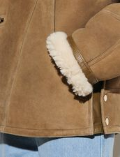 Short Sheepskin Coat : Coats color Olive Green