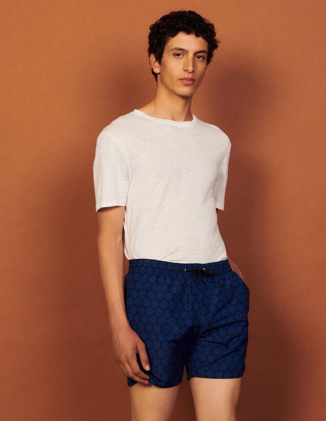 Patterned Swim Shorts : Pants & Shorts color Small circles off white
