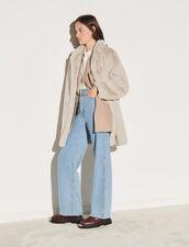 Faux Fur Coat : Coats color Beige