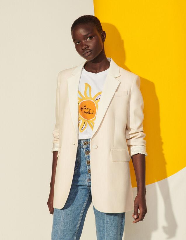 Tailored Jacket : Blazer & Jacket color light beige