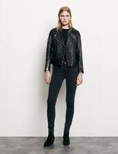 Biker Jacket In Lambskin : Blazer & Jacket color Black
