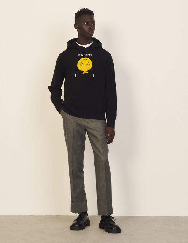 Cotton Sweatshirt With Patch : Sweatshirts color Black