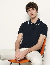 Cotton Piqué Polo Shirt : T-shirts & Polo shirts color Beige