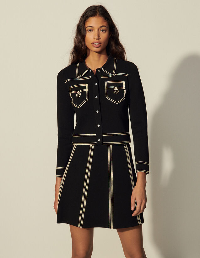 A-Line Knit Skirt : Skirts & Shorts color Black