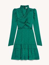 Jacquard Short Dress : Dresses color Emeuraude Green
