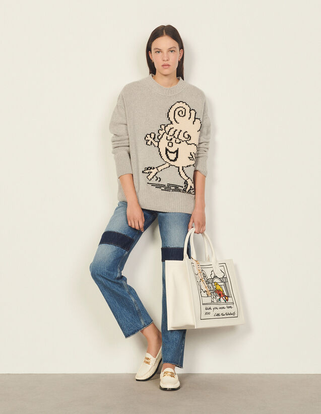 Wool And Cashmere Sweater : Sweaters & Cardigans color Grey
