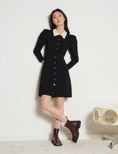 Balloon-Sleeved Dress : Dresses color Black