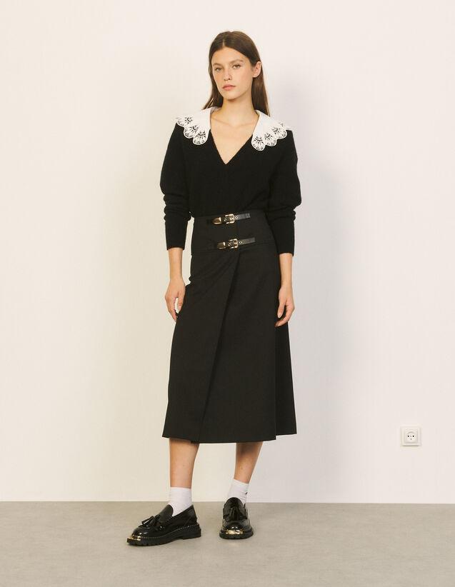 Long Flared Skirt : Skirts & Shorts color Black