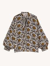 Printed Silk Shirt : Shirts color Ecru / Black