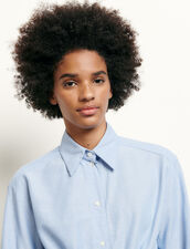 Cropped Shirt With Removable Bow : Shirts color Blue Sky