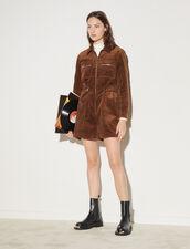 Velvet Playsuit : Jumpsuits color Brown