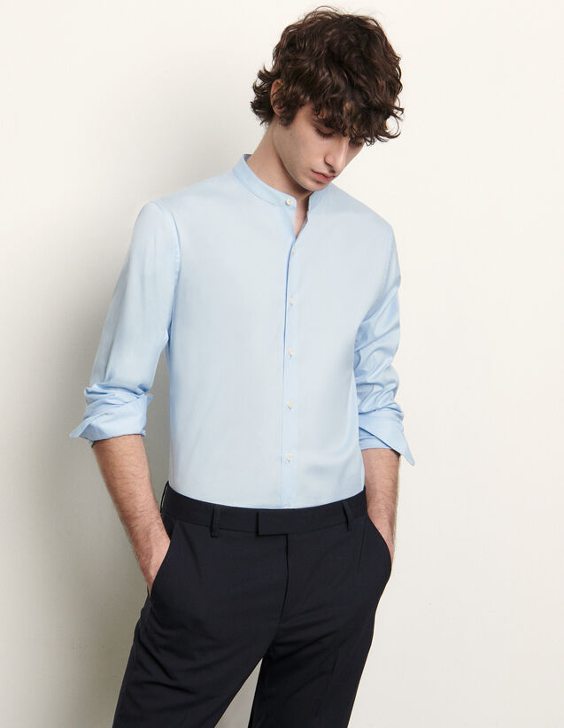 Stretch Cotton Shirt : Shirts color Blue