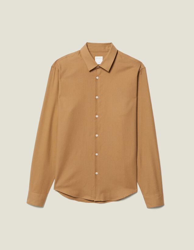 Flannel Shirt : Shirts color Beige