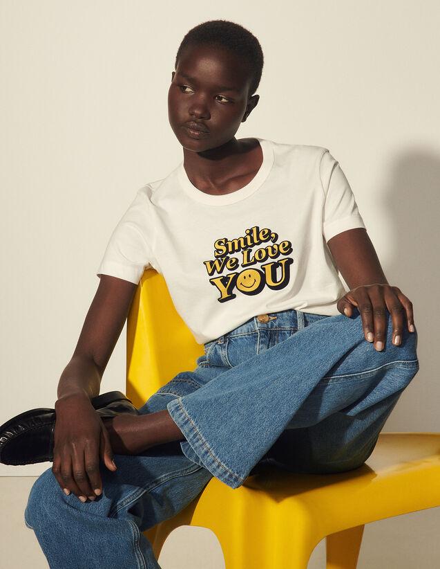 Smiley® T-Shirt In Organic Cotton : T-shirts color Ecru