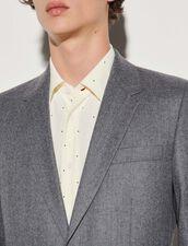 Flannel Suit Jacket : Suits & Tuxedos color Grey