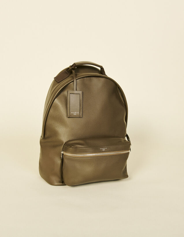 Coated Canvas Backpack : Leather Goods color Black