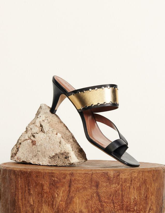 Heeled Sandals With Mini Stud Detailing : Pumps & Sandals color 5500