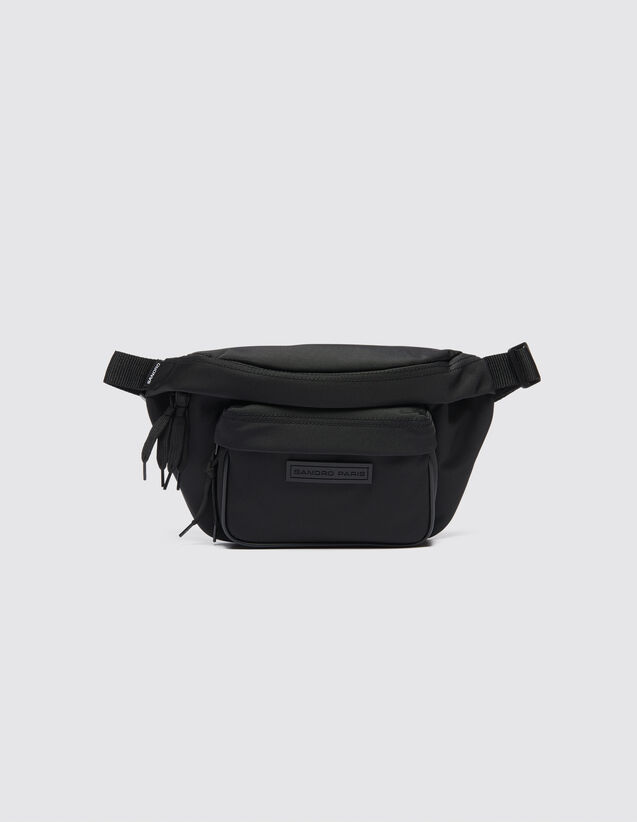 Cross-Body Bum Bag : Leather Goods color Black
