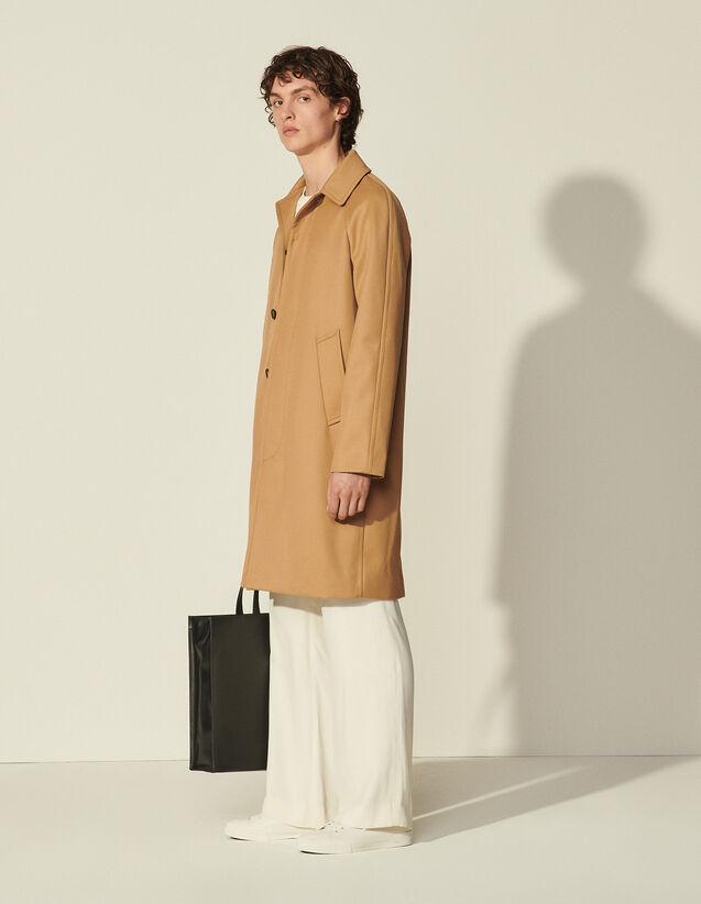 Long Coat With Raglan Sleeves : Coats & Jackets color Beige