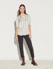Short-Sleeved Printed Shirt : Shirts color Ecru / Black