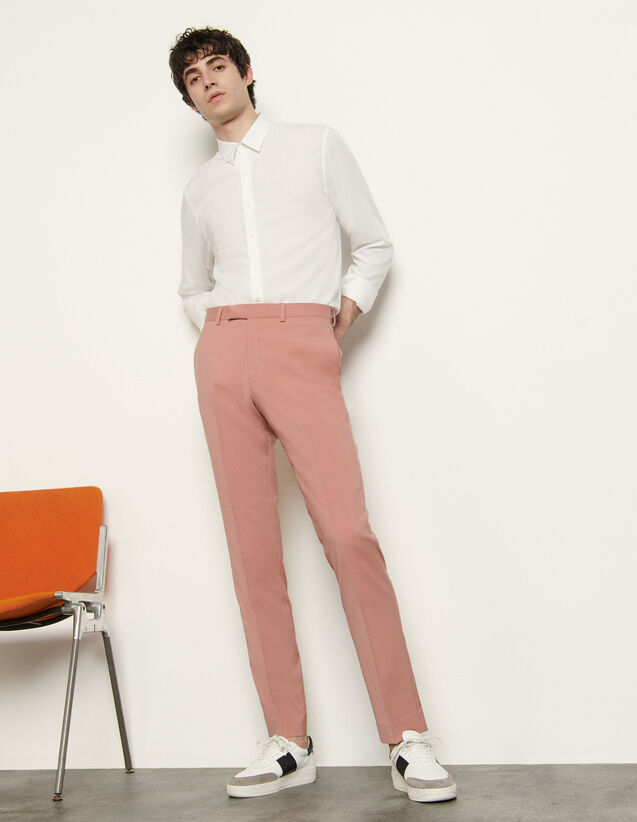 Cool Wool Suit Trousers : Pants & Shorts color Pink
