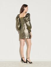 Short Lamé Dress : Dresses color Gold