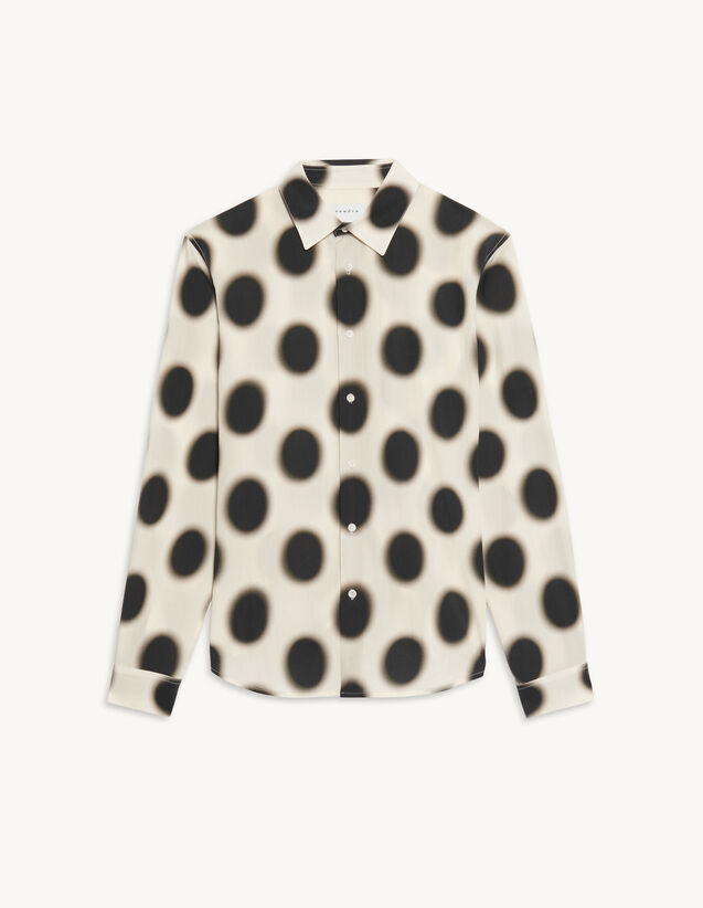 Printed Viscose Shirt : Shirts color Ecru
