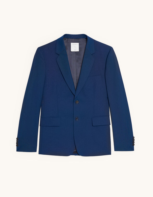 Wool And Mohair Suit Jacket : Suits & Tuxedos color Blue