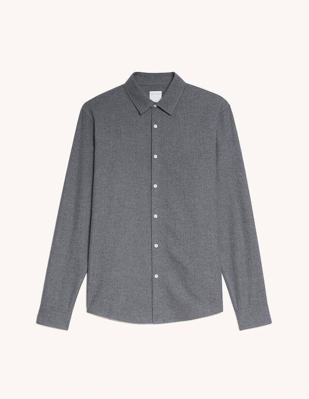 Flannel Shirt : Shirts color Mocked Grey