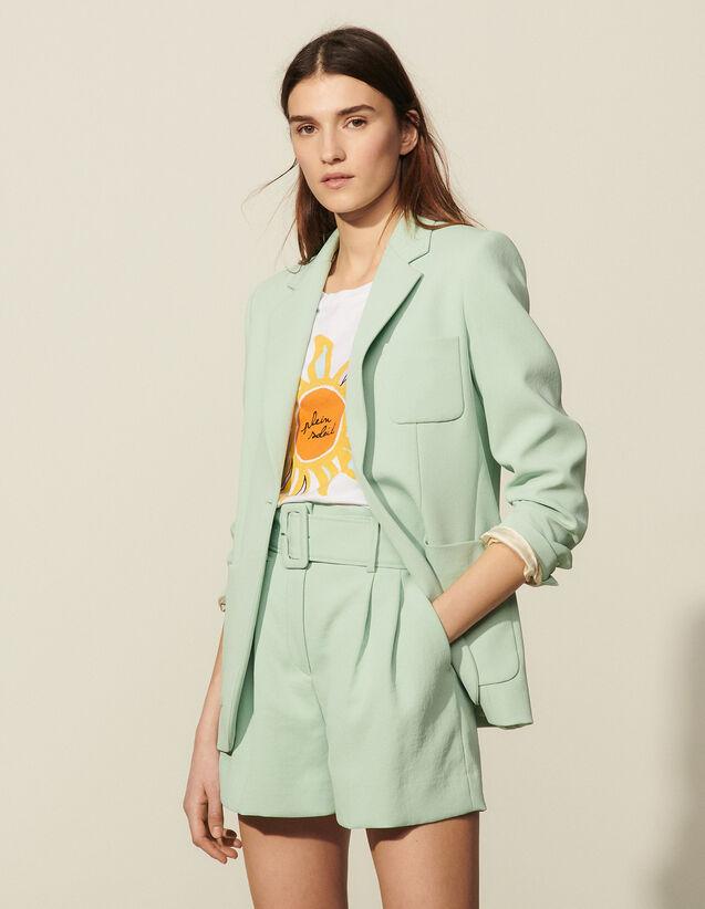 Tailored Crepe Jacket : Blazer & Jacket color Argile