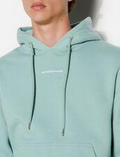 Hoodie Sweatshirt With Logo Embroidery : Sweatshirts color Light Green