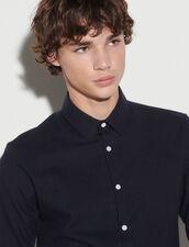 Flannel Shirt : Shirts color Dark Navy