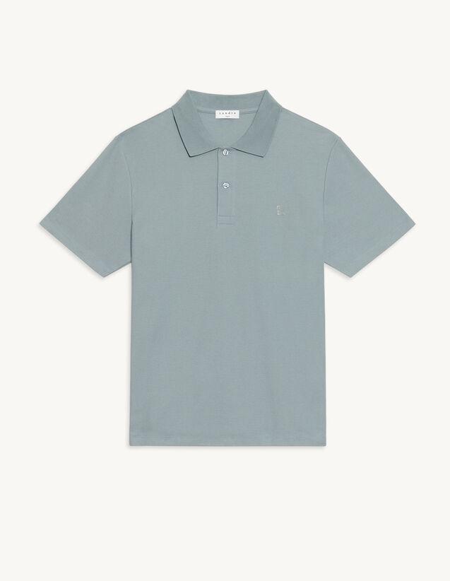 Cotton Polo Shirt With S Logo : T-shirts & Polo shirts color Charcoal Grey