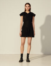 Short Pleated Dress : Dresses color Black