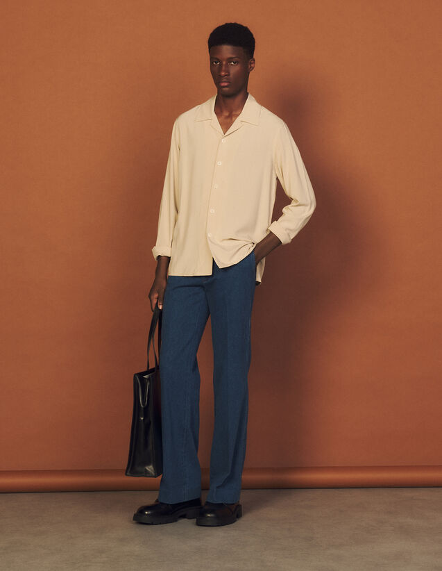 Floaty Viscose Shirt : Shirts color Beige