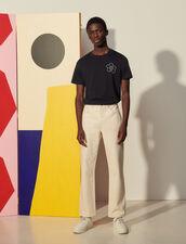 Straight Cut Jeans : Jeans color Ecru