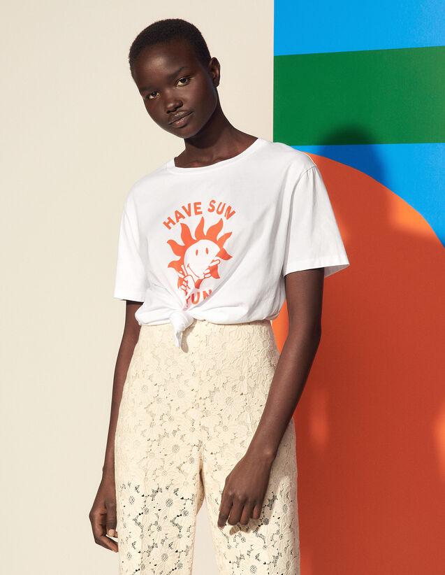 Smiley® Organic Cotton T-Shirt : T-shirts color Ecru
