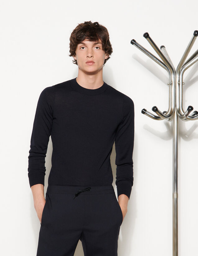 Trousers With Elasticated Waist : Trousers & Jeans color Black