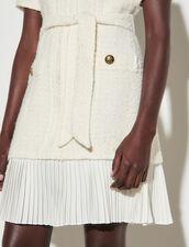 Tweed-Effect Woollen Coat Dress : Dresses color Ecru