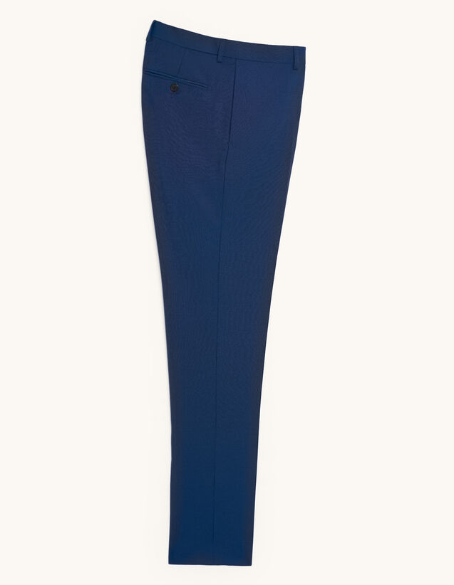 Wool And Mohair Suit Trousers : Pants & Shorts color Blue