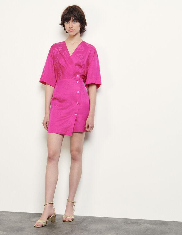 Jacquard Wraparound Dress : Dresses color Ecru