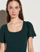 Long Knit Dress : Dresses color Bottle Green