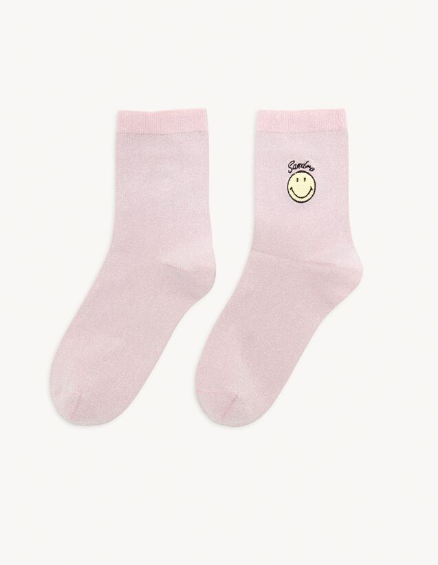 Lurex Socks With Embroidery : Other accessories color Gold