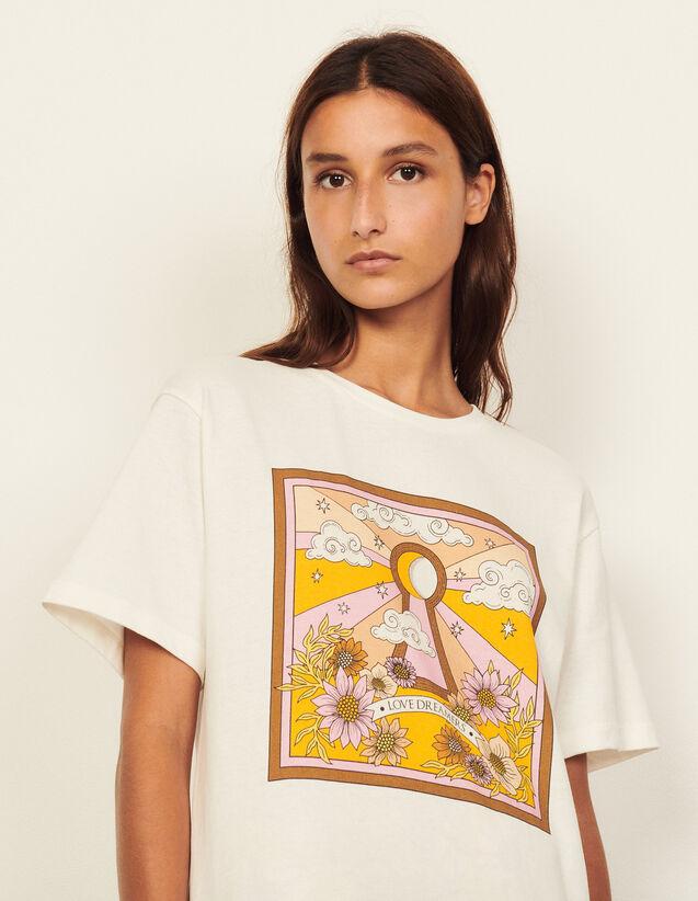 Printed T-Shirt : T-shirts color Ecru