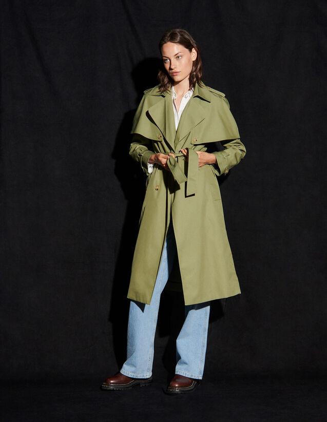 Trench Coat With Removable Yoke : Coats color Light kaki
