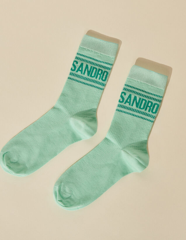 Socks With Sandro Logo And Stripes : Other accessories color Purple